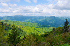 Panoramic view of the Appalachian Mountains Stock Photography