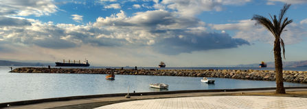 Panoramic view on Aqaba gulf, Eilat, Israel Royalty Free Stock Images