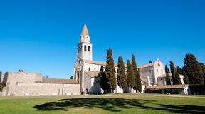 Panoramic view of Aquileia Basilica. In Italy Royalty Free Stock Photos