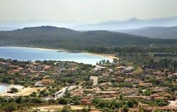 Panoramic view of Arbatax. Sardinia. Italy Stock Photo