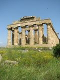 The Valley of the Temples of Agrigento - Italy 101. Panoramic view of the archaeological area of Agrigento 01 royalty free stock image
