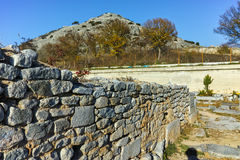 Panoramic view of archeological area of ancient Philippi, Greece Royalty Free Stock Photo