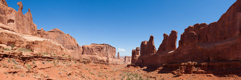 Panoramic view of Arches national park in Utah Royalty Free Stock Image