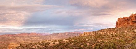Panoramic view in Arches National Park, Utah Royalty Free Stock Images