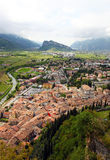 Panoramic view of Arco and Riva del Garda, Italy Royalty Free Stock Image