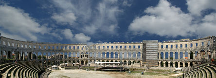 Panoramic view of the Arena (colosseum) Stock Images