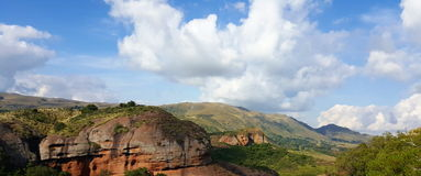 Panoramic view of an argentinian landscape. Mountain landscape Royalty Free Stock Photo