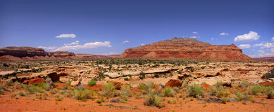 Panoramic view of Arizona desert Stock Images