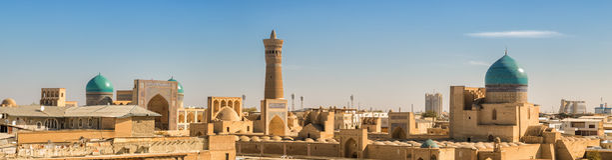 Panorama of Bukhara Royalty Free Stock Photos