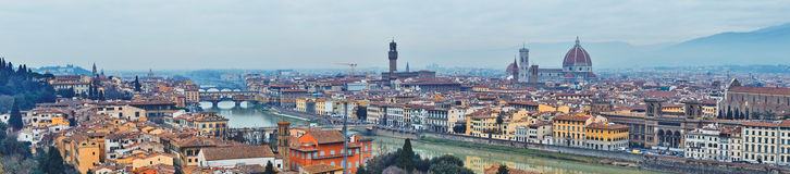 Panoramic view of Arno River Stock Image
