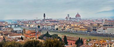 Panoramic view of Arno River Royalty Free Stock Photos