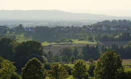 Panoramic view around Emmendingen royalty free stock photography