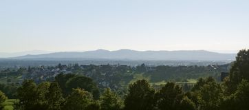 Panoramic view around Emmendingen royalty free stock images