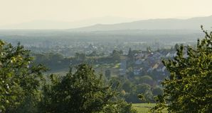 Panoramic view around Emmendingen Royalty Free Stock Photos