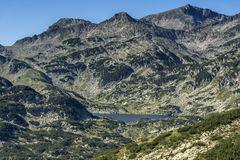 Panoramic view around Popovo lake, Pirin Mountain Stock Image