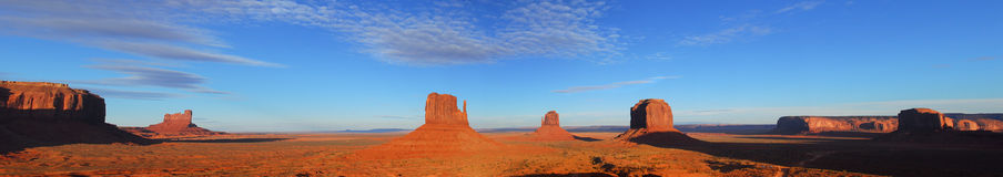 Panoramic view of Artist Point at Monument Valley Royalty Free Stock Photos