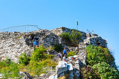 Panoramic view of Asenov Fortress, Bulgaria. royalty free stock photography