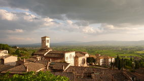 Panoramic view of Assisi Royalty Free Stock Photography