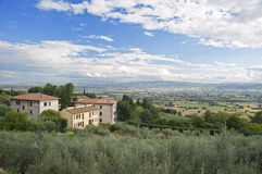 Panoramic view of Assisi. Umbria. Royalty Free Stock Photo