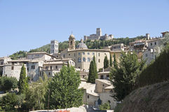 Panoramic view of Assisi. Umbria. Stock Images