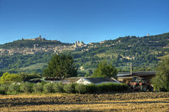 Panoramic view of Assisi. Umbria. Stock Image