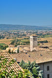 Panoramic view of Assisi. Umbria. Royalty Free Stock Photos