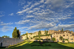 Panoramic view of Assisi. Umbria. Stock Photos
