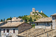 Panoramic view of Assisi. Umbria. Italy. Royalty Free Stock Photo