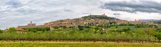 Panoramic view of Assisi Stock Images