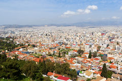 Panoramic view of Athens from Acropolis, Greece Royalty Free Stock Photo