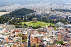 Panoramic view of Athens from Acropolis, Greece Royalty Free Stock Photos