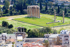 Panoramic view of Athens from Acropolis, Greece Stock Images
