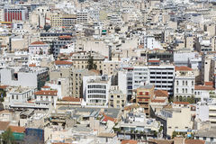 Panoramic view of Athens from Acropolis, Greece Stock Photo