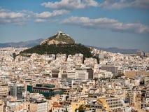Panoramic view of Athens city Stock Image