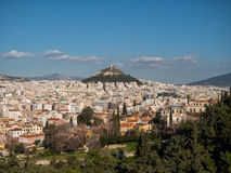 Panoramic view of Athens city Royalty Free Stock Photo