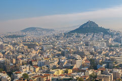 Panoramic view of Athens, Greece Stock Image