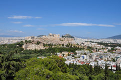 Panoramic view athens greece Royalty Free Stock Photos