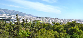 Panoramic view of Athens Greece Stock Image