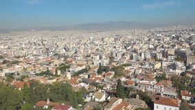 Panoramic view of Athens stock video footage