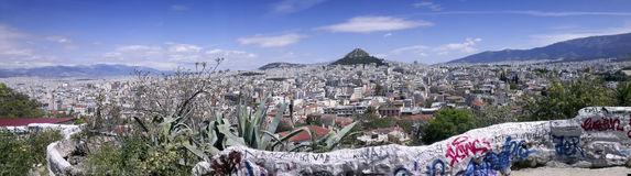 Panoramic view of Athens Royalty Free Stock Photography