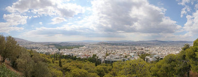 Panoramic view on Athens. From Lykavittos Hill Stock Photo