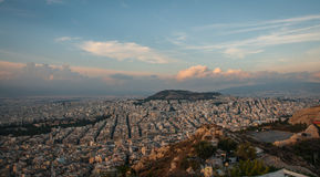 Panoramic view of Athens from Mount Lycabettus Stock Image
