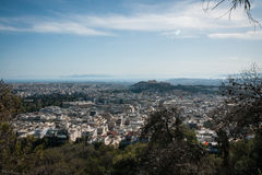 Panoramic view of Athens from Mount Lycabettus Royalty Free Stock Photo