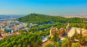 Panoramic view of Athens Stock Photography