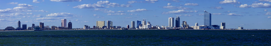 Panoramic view of Atlantic City, New Jersey from the ocean Stock Photography