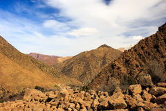 Panoramic View of Atlas mountains in Morocco Stock Photo