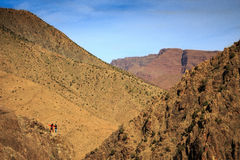 Panoramic View of Atlas mountains in Morocco. Canyon in the High Atlas mountains near Setti Fatma in Ourika Valley Stock Image