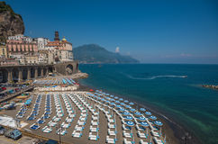 Panoramic view of Atrani, the Amalfi Coast, Italy Stock Photo