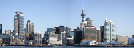 Panoramic view of Auckland city Skyline Stock Images