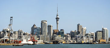 Panoramic view of Auckland city Skyline Royalty Free Stock Photos